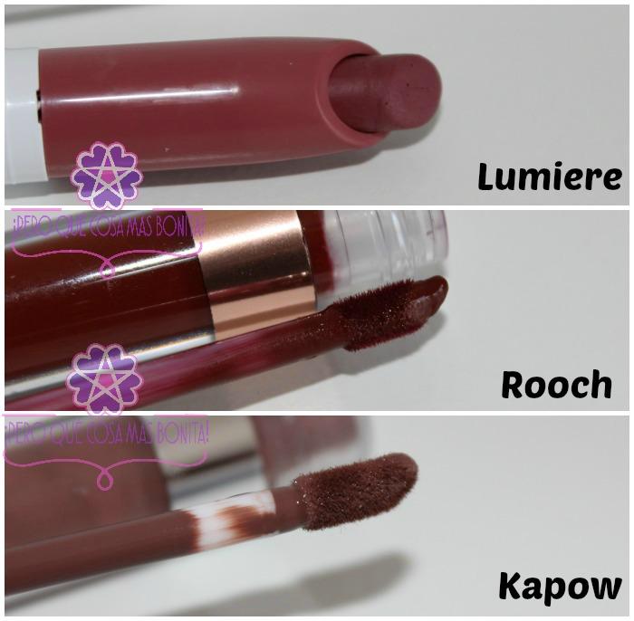 Labiales ColourPop: Lumiere, Rooch y Kapow