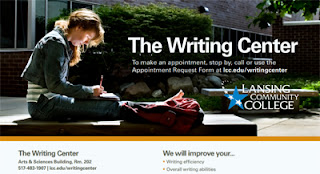 The LCC Writing Center flyer image