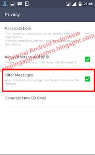 filter messages line