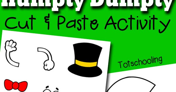 Humpty Dumpty Printable Cut Paste Activity