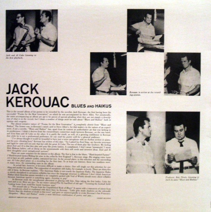 Vinyl Exam Blues And Haikus Jack Kerouac