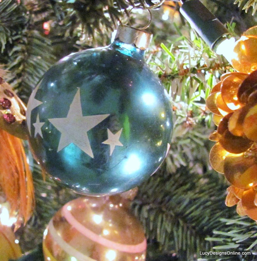 vintage glass star ornament