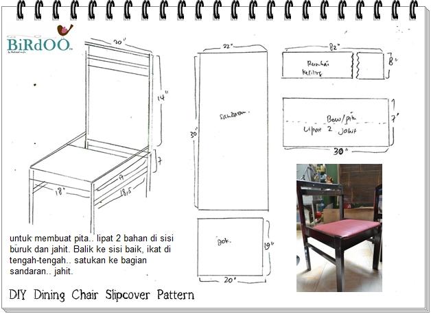 Diy Dining Chair Slipcover Mizu Lil Secret