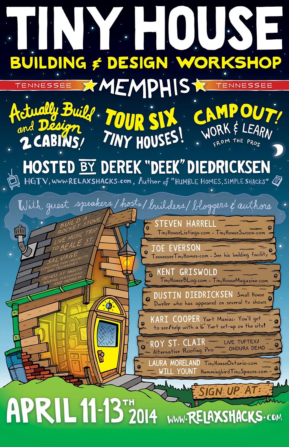 Relaxshacks com: MEMPHIS, Tennessee- SIX TINY HOUSES!