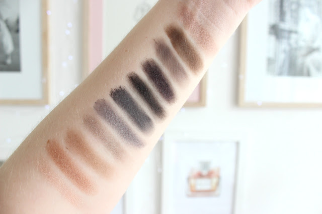 Urban decay naked smoky palette, eyeshadow, palette, smoky eye, review, swatches