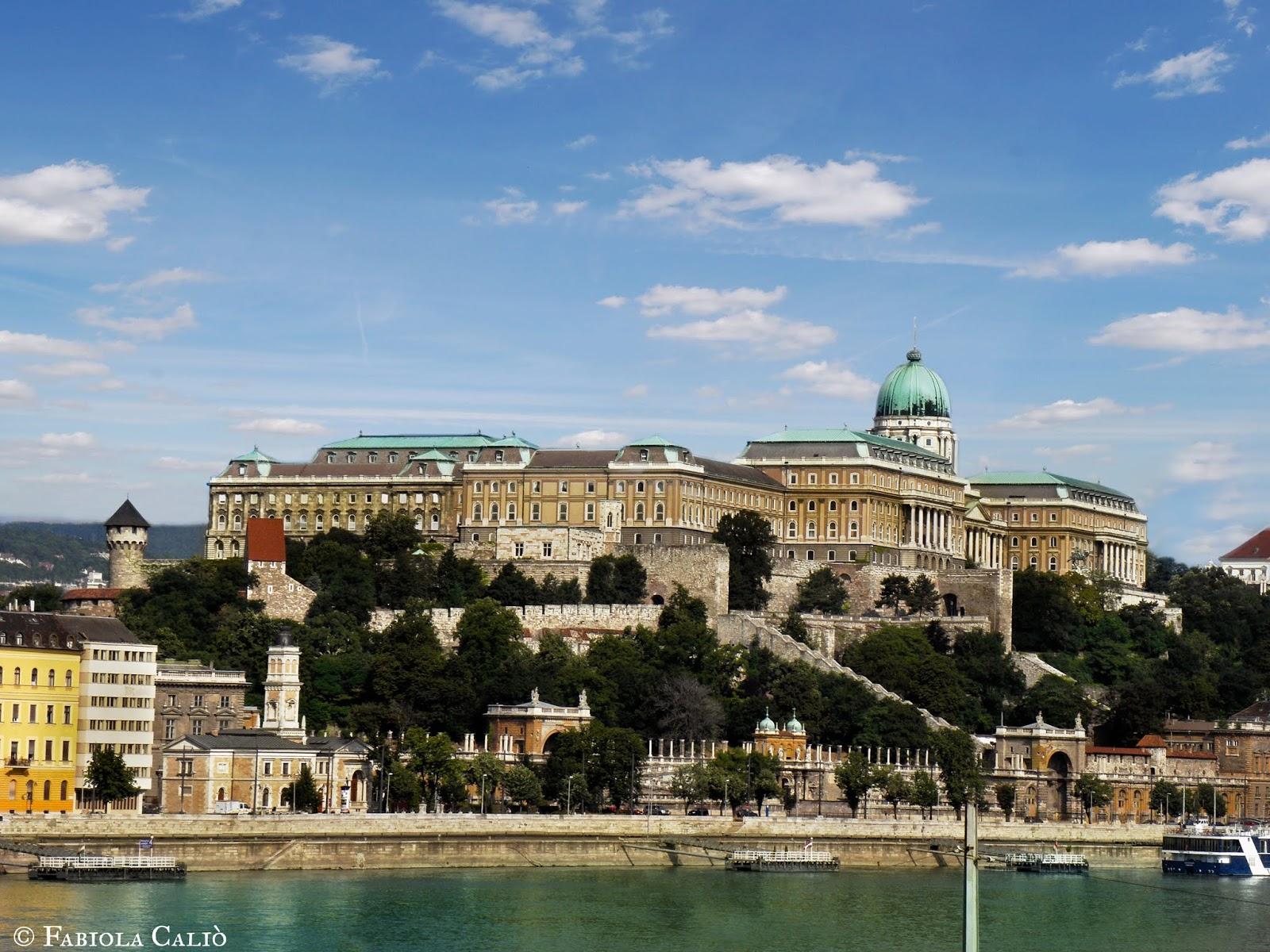 Budapest Vista del Castello di Buda
