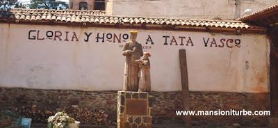 Don Vasco de Quiroga en Santa Fe de la Laguna en la Ribera del Lago de Pátzcuaro