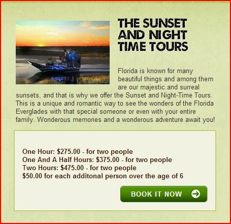 The Brackin Build Sunset And Night Time Tours Airboat In