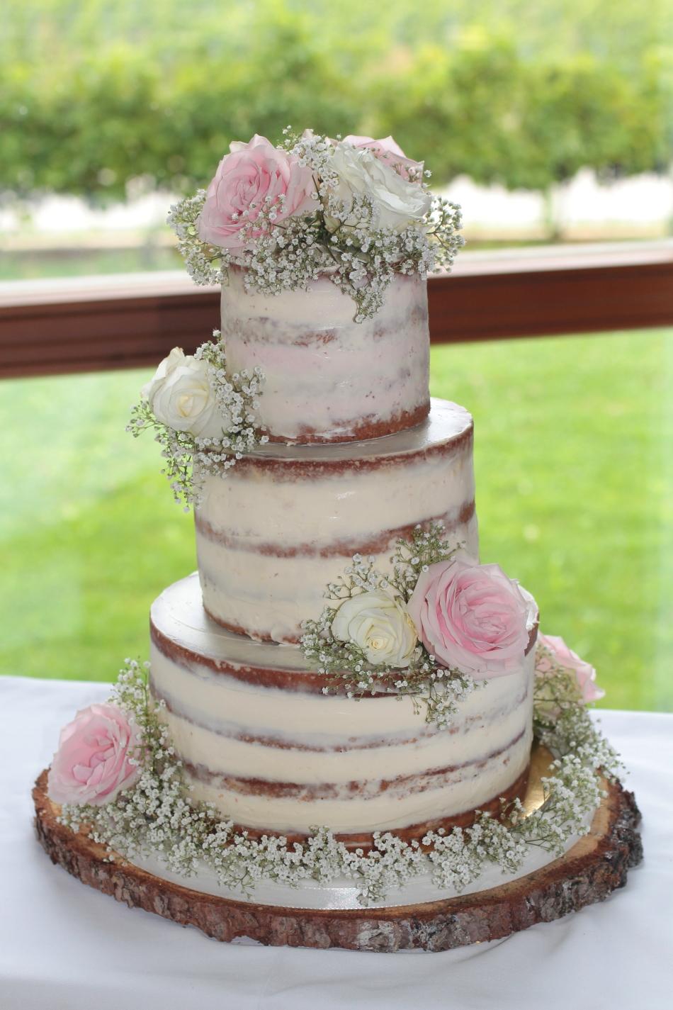 Naked Cake Hochzeitstorte Tortenschlaraffenland