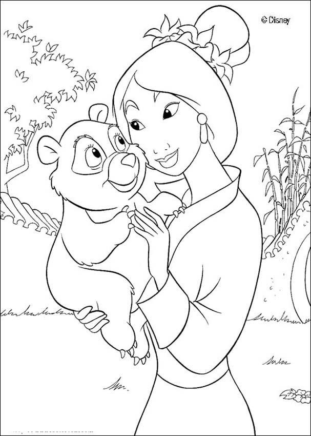 princess mulan coloring pages - princesas disney m s dibujos para colorear de mulan
