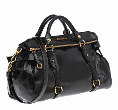 8ea4db60a722 MIU MIU VITELLO LUX LARGE BOW BAG IN BLACK   GOLD