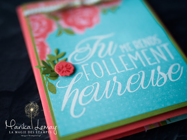 Carte qui bouge avec le lot Adorables amis Stampin' Up!
