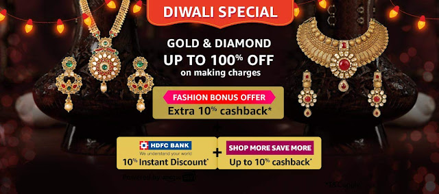 Women's Jewelry up to 100% off on Making Charges