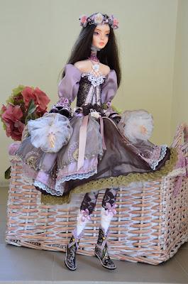 будуарная авторская кукла ручной работы