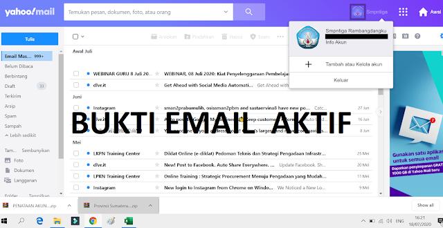 gambar email aktif