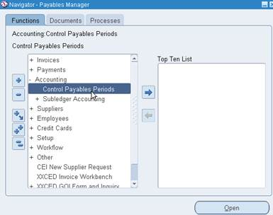 Oracle Applications Insight: How to open Payables or AP Period in