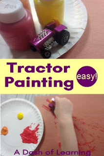 Easy! Tractor Painting: Preschool Farm Process Art Activity