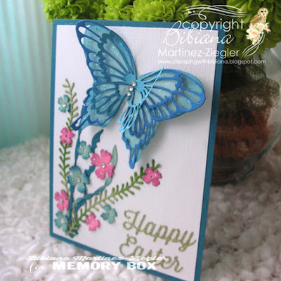 holy week happy easter butterfly card front