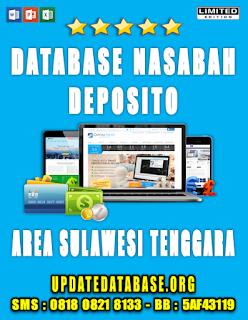 Jual Database Nasabah Deposito Sulawesi Tenggara