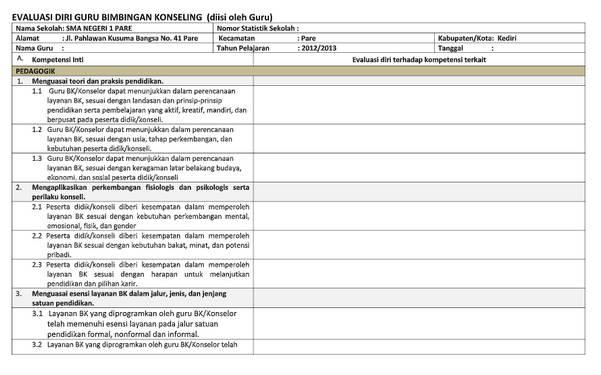 Format Evadir Guru BK Microsoft Excel