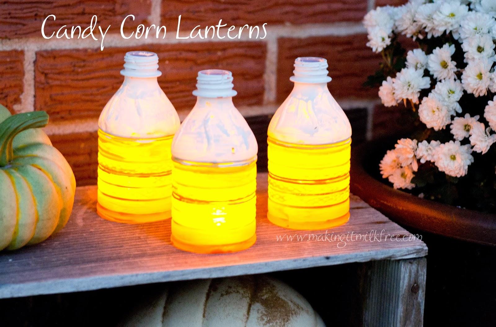 #halloween #dasani #candycorn #lanterns #diy