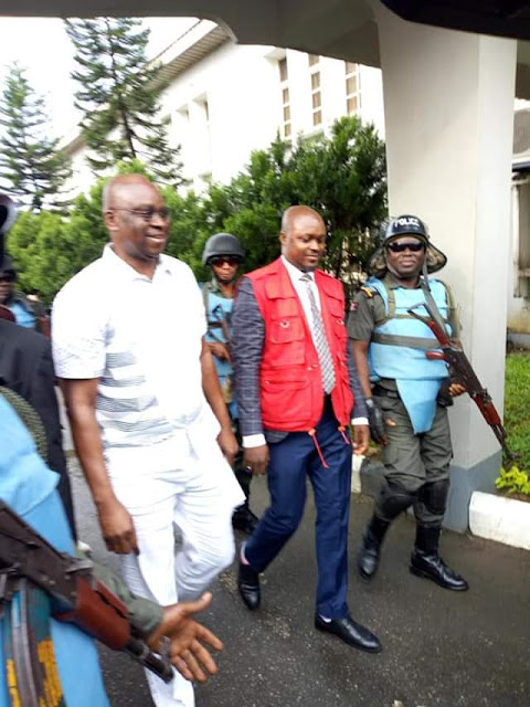 Fayose Smiles After He Was Granted Bail Today (Photos)