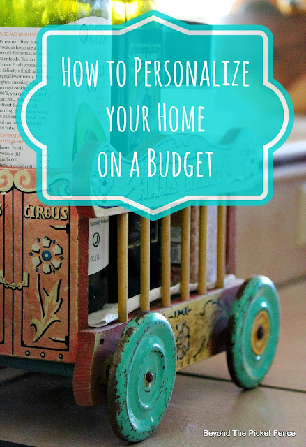 budget, decor, vintage, home decor, http://bec4-beyondthepicketfence.blogspot.com/2015/10/personalizing-your-home-on-budget.html