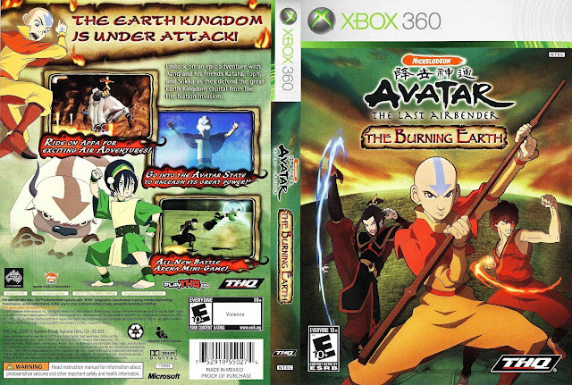 Capa xBox360 Avatar The Burning Earth