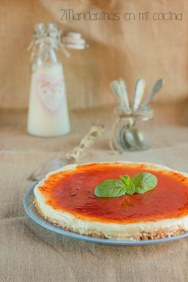 como preparar tarta de queso rapida y deliciosa