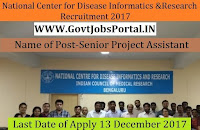 National Center for Disease Informatics and Research Recruitment 2017–Senior Project Assistant