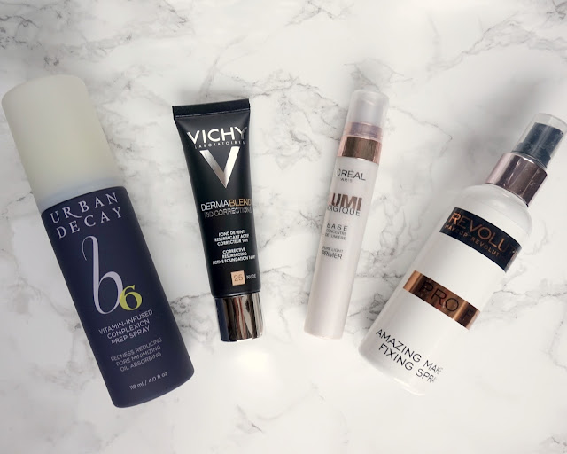 urban decay, vichy, boreal, makeup revolution, prep spray, dermablend correction 3d, lump magique, pro fix, hanrosewilliams, hannah rose, blogger, beauty, review