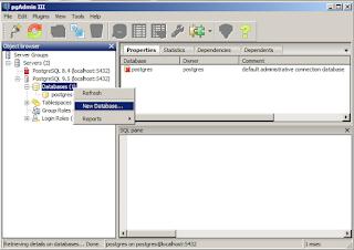 new database postgresql