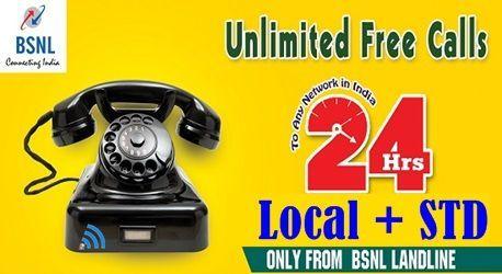 24 hours free voice calls bsnl landline plan 449