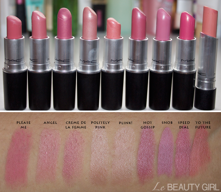 My MAC Lipstick Collection (Swatches)