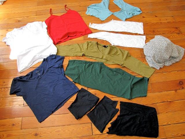 restos de camisetas