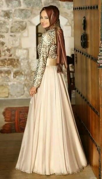 20 Foto Desain Baju Pesta Muslim Glamour Terpopuler ...