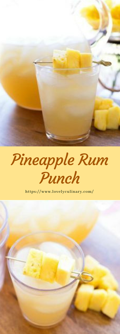 Pineapple Rum Punch #recipe #drink