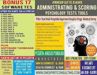 Pelatihan Alat Tes Psikologi