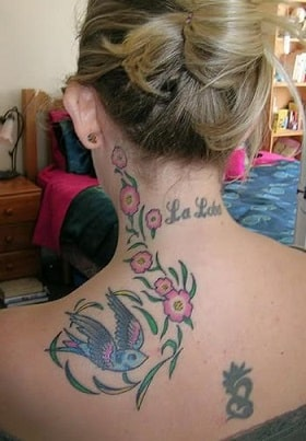 neck tattoo design for girl