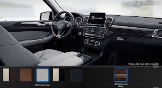 Nội thất Mercedes GLS 400 4MATIC 2016 màu Xám Crystal 228