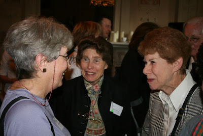 Anita Brookner and former colleagues at the Courtauld's 75th anniversary celebration