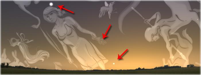encontro celeste em 13 de novembro de 2017 - Vênus e Júpiter