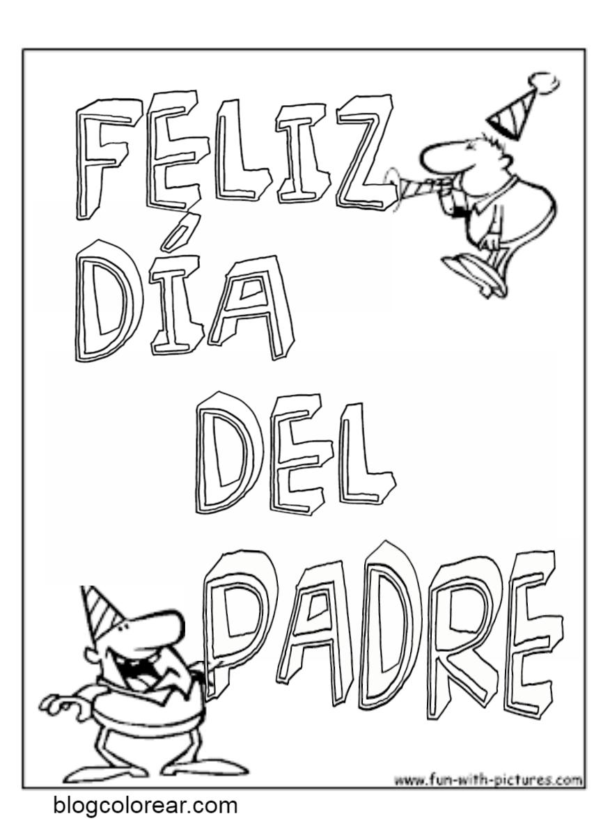 Dibujos Día del padre para imprimir y colorear | Colorear dibujos ...