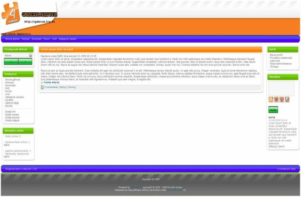 Orange Green Free Php-fusion Style Theme
