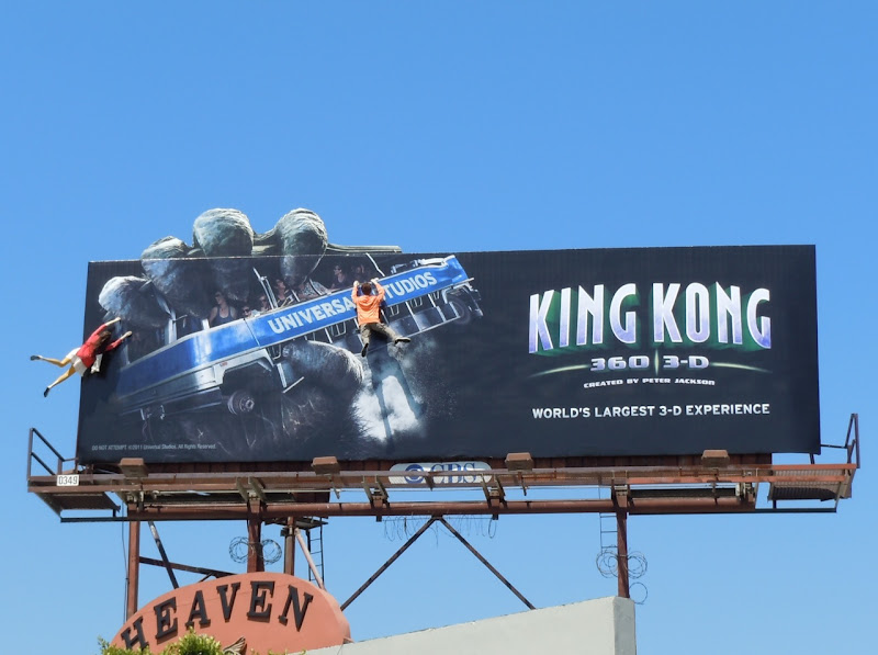 Universal's King Kong 3D billboard installation