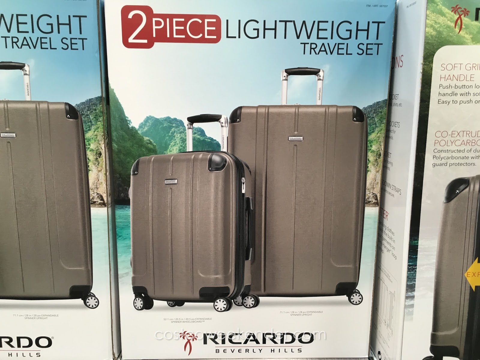 a6727c46e Ensure you have everything you need for travel with the Ricardo 2-piece  Hardside Spinner