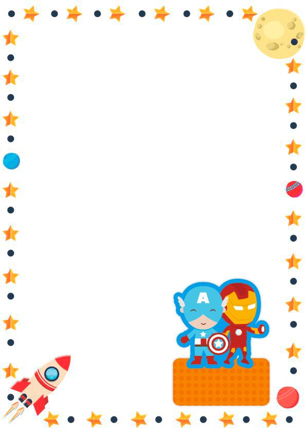 caratulas para cuadernos para niños y niñas de primaria de avengers
