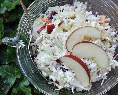 Easy Coleslaw with Blue Cheese & Apple