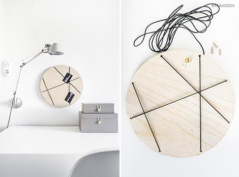 raumideen diy pinnwand selber machen ordnung am schreibtisch. Black Bedroom Furniture Sets. Home Design Ideas