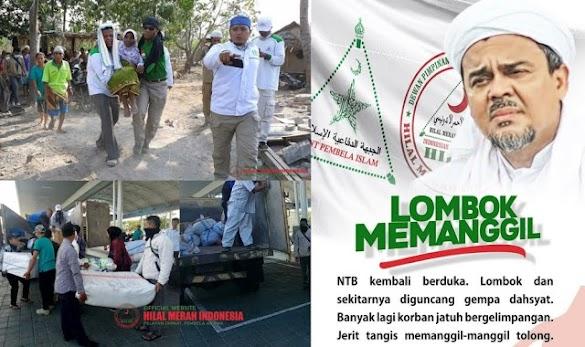 "HRS Tetapkan Gempa Lombok ""Bencana Nasional"", Relawan FPI se-Nusantara Dikerahkan"